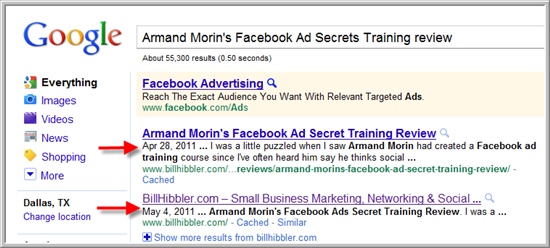 Armand Morin's Facebook Ad Secret Training Review