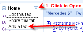 How to Add a Tab to Your iGoogle Page