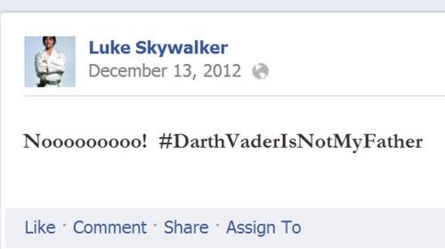 #DarthVaderIsNotMyFather